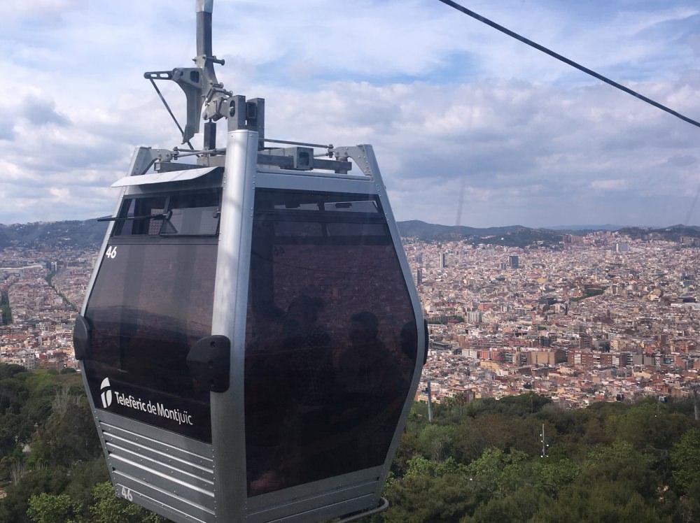 【西班牙巴塞隆納】一日遊行程 – 搭纜車Montjuïc Cable Car, 逛西班牙村Poble Espanyol