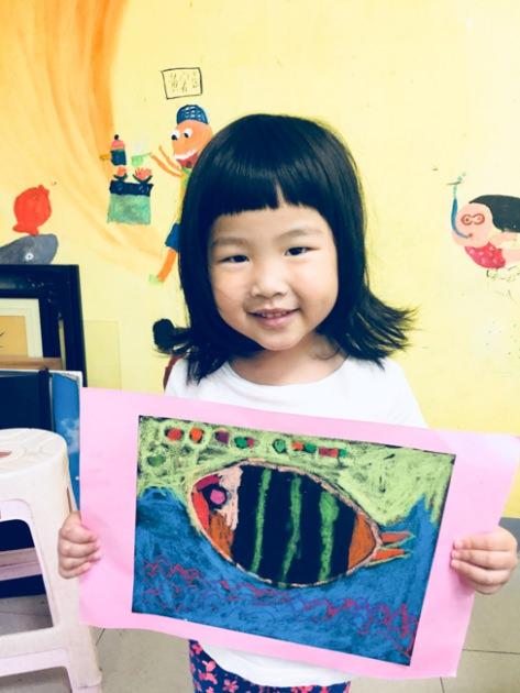[朱寶7Y0M,錢錢3Y9M] 帶著金牛姐和獅子妹 去美術教室學畫畫初體驗